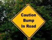 Caution Bump In Road