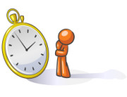 Design Mascot Watching Time